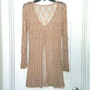 Crochet Cardigan Gold